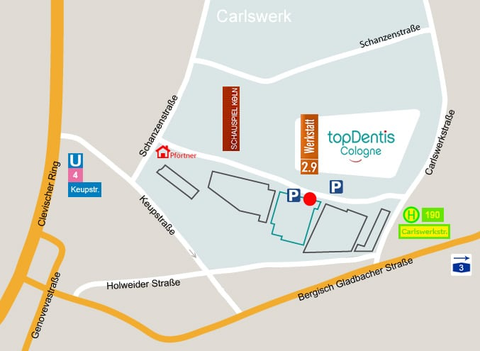 topDentis Cologne Anfahrt